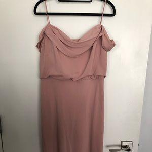 Jenny Yoo collection long bridesmaid dress